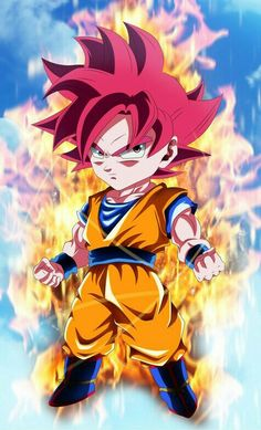 Goku|Chibi|Kawaii|SsjGod|Dbs Dbz, Dragon Ball Z, Kid Goku, Kawaii, Pokemon, Super Saiyan, Anime Chibi, Photos, Pictures