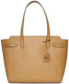 Lauren Ralph Lauren Harper Parker Leather Tote Handbags   Accessories -  Macy s fa26cf4295945