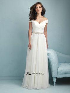 baf6da00d6c ED-YH2269 Vestidos de Novias China Supplier Off-shoulder Beach Wedding Dress