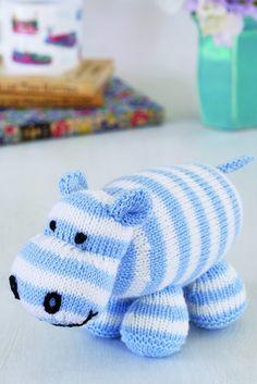 Hippo Toy Knitting Pattern