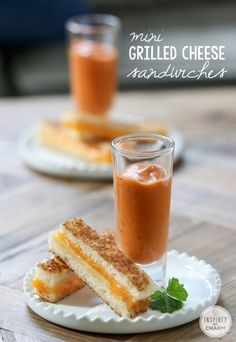 Mini Grilled Cheese Sandwiches - an easy and delicious appetizer inspired by classic comfort food!
