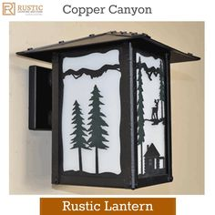 Copper Canyon Rustic Lantern #RusticLighting #OutdoorLighting