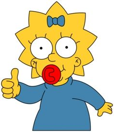 Maggie Simpson | peršánci Simpsons Drawings, Simpsons Art, Cartoon Drawings, Easy Drawings, Cartoon Clip, Cartoon Shows, Simpsons Characters, Geeks, Cartoon Background