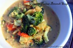 Colleen Cooks Real Food: Gingered Peanut Broccoli Soup