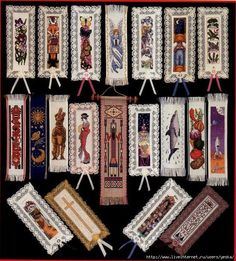 bookmarks -- lots of patterns here  -- free cross stitch patterns
