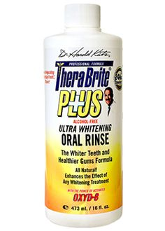 Scrub away the yellow from your #teeth with our powerful breath freshening and unique oxygenating compounds Therabrite PLUS solution! #TeethWhitening #oralcare
