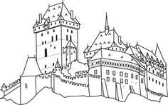 karlštejn omalovánky - Hledat Googlem: Coloring Pages, Colouring, Teaching History, Preschool, Lap Books, Google Search, Drawings, Travel, Quote Coloring Pages