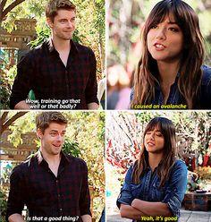 "@heavenspn #AgentsofSHIELD 2x17 ""Melinda"" - Skye and Lincoln"