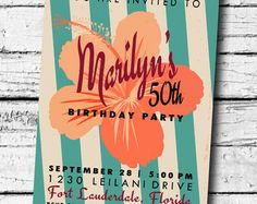 love the retro look of this invite
