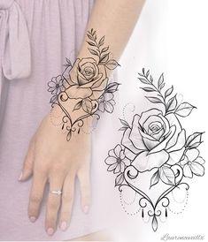 Flower Rose Tattoo Design Available Dotwork Tattoo Mandala, Mandala Tattoo Sleeve, Mandala Tattoo Design, Flower Tattoo Designs, Sleeve Tattoos, Tattoo Sleeves, Flower Tattoo Stencils, Mandala Flower Tattoos, Flower Tattoo Hand