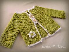vestje met knopen crocheted baby sweater