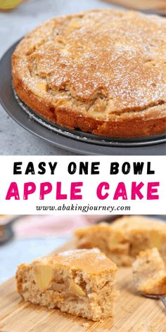 This super easy One Bowl French Apple Cake recipe is the perfect dessert to whip up in 30 minutes. The One-Bowl Apple Cake is super Moist and Light - great to enjoy with your afternoon tea or to finish a heavy meal! Moist Apple Cake, Easy Apple Cake, Apple Cake Recipes, Easy Cake Recipes, Sweet Recipes, One Bowl Apple Cake Recipe, Apple Recipes Easy Quick, Healthy Apple Cake, Vegan Apple Cake