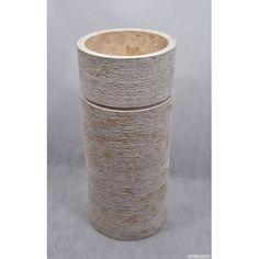 SL-FG CREAM B postument umywalka z naturalnego marmuru średnica -40cm wysokość - 91 cm waga - około 100 kg średnica odpływu - 4,5 cm materiał - marmur