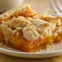 Peach Slab Pie Healthy Fruit Desserts, Fruit Recipes, Just Desserts, Delicious Desserts, Yummy Food, Dessert Recipes, Healthy Fruits, Tropical Desserts, Sweet Desserts