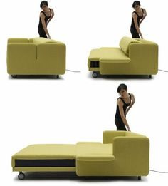 wohnideen bettsessel schlafsessel komfortabel grün