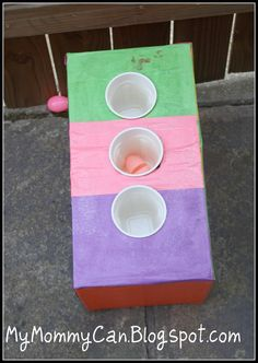 diaper box tossing game-  @Renee Davis We could make this for the kids to play when we play cornhole!