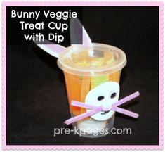 Healthy Bunny Veggie Treat Cup for  #preschool or #kindergarten