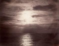 Gustave le Grey, Solar Effect in the Clouds – Ocean, 1856, albumen print from a collodion-on-glass negative, acquired by the British Museum in 1857 and transferred to the VA in 2000. Museum no. E.1340-2000