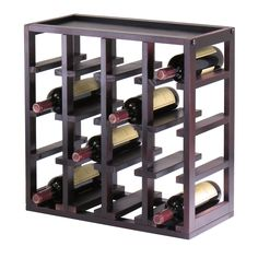 Stackable Slot Cube 16 Bottle Wine Cube in Dark Espresso  sc 1 st  Pinterest & 11 best Smart and Stylish Wine Storage Cabinets images on Pinterest ...