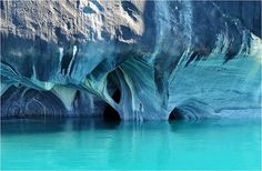 The Marble Cathedral of General Carrera Lake in Chile. Via Noelegroj/Flickr