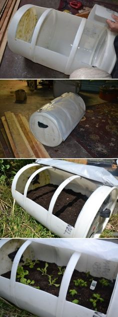 Easy Way To Build a Small Greenhouse,just make sure it has been cleaned very good of all past chemicals