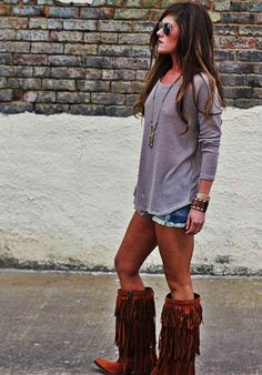 4cdf8f63ec9e1 152 Best Fringe boots/fringe boots outfit! LOVE!! images in 2019 ...