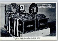 Sarcophaag van Goethe en Schiller in Weimar