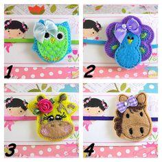 Baby Headband Set Pick 4 Toddler Headbands by TheBowfairyBowtique