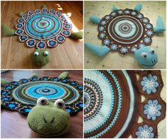 Crochet Turtle Rug Free Pattern Super Cute Idea | The WHOot