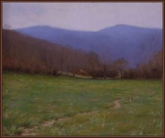 Jacob Collins | Valley Path, Virginia | Oil on Board | 10'' x 12'' | 2005