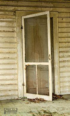 Old Screen Door  love the sound of a wooden screen door closing  :)