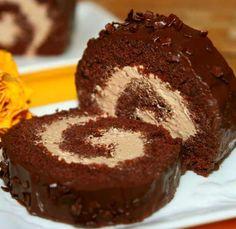 Cake Roll Recipes, Dessert Recipes, Sweet Desserts, Sweet Recipes, Simpsons Cake, Kolaci I Torte, Czech Recipes, Croatian Recipes, Salty Cake