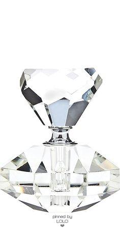 Beveled Crystal Perfume Bottle | House of Beccaria#