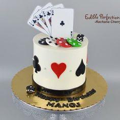 Beautiful Cakes, Amazing Cakes, Magician Cake, Las Vegas Cake, Poker Cake, Cake For Boyfriend, Casino Theme, Casino Party, Little Mermaid Cakes