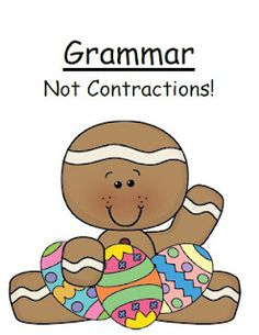 Fern Smith's FREE Grammar -Not Contractions- Easter / Spring Themed Center Game!