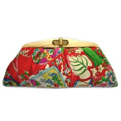 KImono Clutch-A Traditional Japanese Ball on Red by david