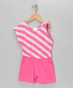 Take a look at this Pink Fever Stripe One-Sleeve Romper - Infant, Toddler & Girls on zulily today!