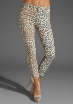 Joe's  The High Water Leopard Jeans    just right for summer