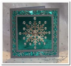 The colors are beautiful! Love this snowflake card...