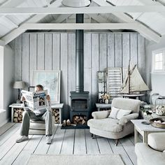 Blanco-ambiente-marinero.  Fisherman's cottage