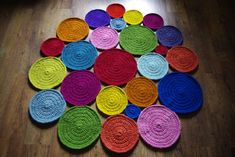 Crochet round rug, 55'' (140 cm)/Crochet Rug/Rugs/Rug/Area Rugs/Floor Rugs/Large Rugs/Handmade Rug/Carpet/Wool Rug by AnuszkaDesign on Etsy