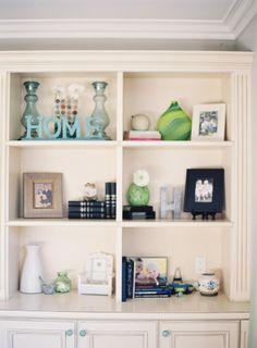 Reconfigure our TV nook into a bookshelf