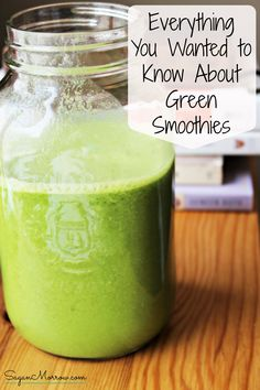 Free green smoothie book! Everything you wanted to know about green smoothies…