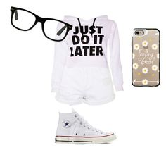 """Don't Be Jelly"" by bolu ❤ liked on Polyvore featuring Topshop, Converse and Casetify"