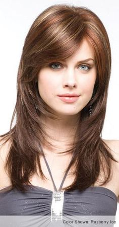 Modern Bob Hairstyles For Women, looking for neat looks is far more important than just a pretty face or the latest 2019 haircut! We can not all pretend to be beautiful, but to present ourselves well by good care can… Continue Reading → Layered Haircuts With Bangs, Thin Hair Haircuts, Hairstyles Haircuts, Medium Hair Styles, Short Hair Styles, Monofilament Wigs, Hair Color Highlights, Subtle Highlights, Shoulder Length Hair