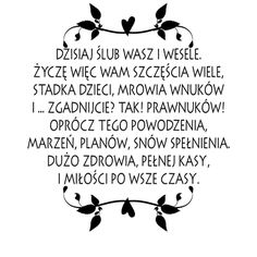 Ślub - życzenia Motto, Exploding Boxes, Quotes To Live By, Diy And Crafts, Stamp, Prints, Handmade, Wedding, Crotchet