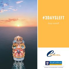 e-travel and Royal Caribbean have partnered up again. Stay tuned to find out what we have been planning. #3DAYSLEFT