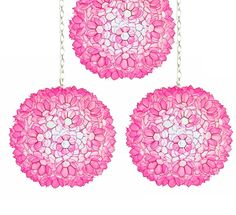 Hot in Hollywood: Pink Capiz Shell Pendants Inspiring Hollywood Interior Design Accents, Courtesy of InStyle-Decor.com Beverly Hills for Interior Design Fans to Enjoy