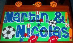Banner en foami Sports