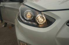 Installed #Head_Light  in Verna Fludic Shop online on website Carplus.